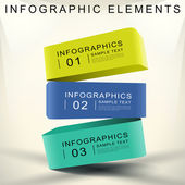 Abstract 3d cube infographics — Stock Vector