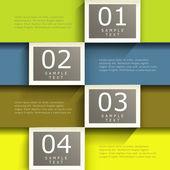 Abstrato 3d infográficos de papel — Vetorial Stock