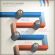 Abstract 3d road infographics — Stock Vector