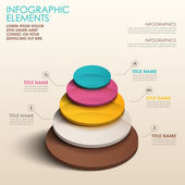 Abstract 3d color tower infographics — Stock Vector