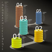 Abstract 3d tower infographics — Stock Vector