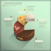 Abstrakt 3d cirkeldiagram infographics — Stockvektor