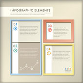 Abstract 3d paper infographics — Stock Vector