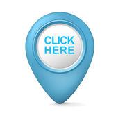 3d click here symbol — Vecteur