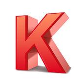 3d letter K — Stock Vector