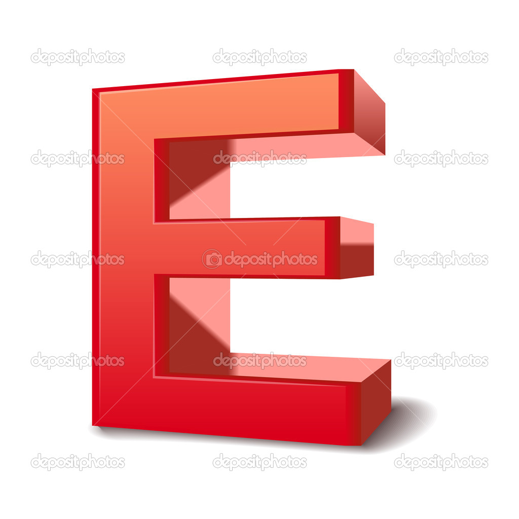 3d brief e — stockvector © kchungtw #37559583