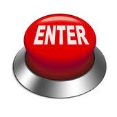 3d illustration of shiny enter button — Stok Vektör