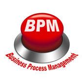 3d illustration of bpm business process management button — Stock Vector