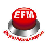 3d illustration of efm enterprise feedback management button — Stock Vector
