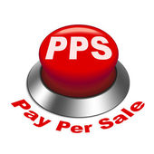 3d illustration of pps pay per sale button — Stock Vector