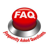 3d illustration of faq (frequently asked questions) button — Stock Vector