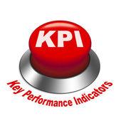 3d illustration of KPI ( Key Performance Indicator ) button — Stock Vector
