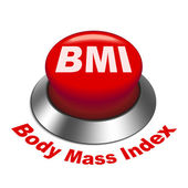 3d illustration of BMI ( Body Mass Index) button — Stock Vector