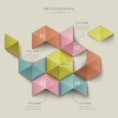 Abstract hexagon infographics — Stock Vector