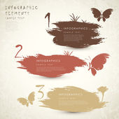 Classic style abstract banner infographics — Stockvektor