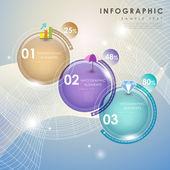 Abstract pie chart infographics — Stock vektor