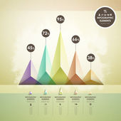 Abstract pyramid chart infographics — Stock Vector