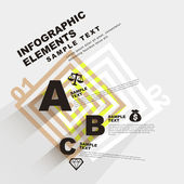 Flat style abstract infographics — Vector de stock