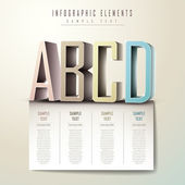 Abstract 3d alphabet infographics — Stock Vector