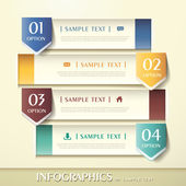 3d abstract banner infographics — Stock Vector