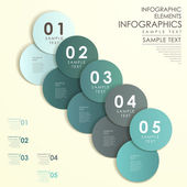 Abstract circle label infographics — Stock Vector