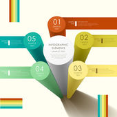 Abstract 3d cylinder infographics — Vettoriale Stock