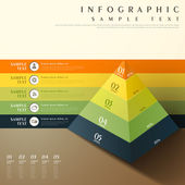 Abstract 3d pyramid chart infographics — Stock Vector