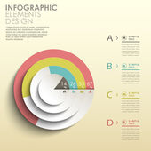 Abstract 3d pie chart infographics — Stock Vector