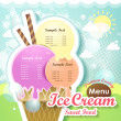 Ice cream menu cover — Vettoriale Stock