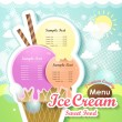 Ice cream menu cover — Stock vektor