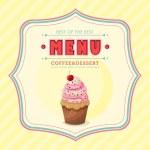 Ice cream menu cover — Stock Vector #39495223