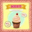 Ice cream menu cover — Wektor stockowy #39495237