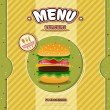 Stock Vector: Fast food restaurant menu