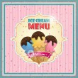 Ice cream menu cover — Stock Vector