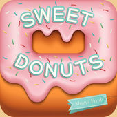 Sweet donuts background — Stock Vector