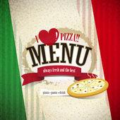 Pizzerie menu — Stock vektor