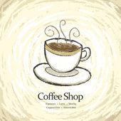 コーヒー ショップ メニュー — ストックベクタ