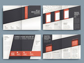 Ontwerpsjabloon vector brochure lay-out — Stockvector