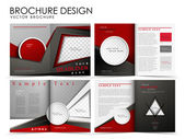 Vector brochure layout design template — Cтоковый вектор