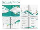 Modello di progettazione layout opuscolo Vector — Vettoriale Stock