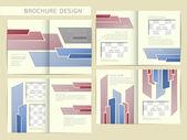 矢量宣传册版式设计模板 — 图库矢量图片