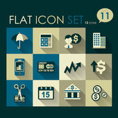 Investing & finance icon set — Stock Vector