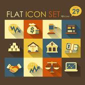 Economic activities & financial icon set — Stock Vector
