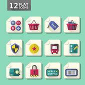 Flat design computer icon set — Stock Vector