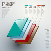 Abstract layer chart infographics — Vetor de Stock