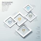абстрактная рамка вариант инфографика — Cтоковый вектор