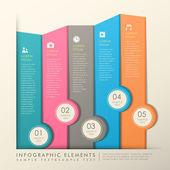 Abstract banner infographics — Stok Vektör
