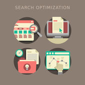 Flat design of search optimization — Stock Vector