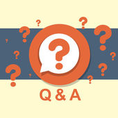 Flat design concept of Q&A — Stock Vector