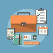 Flat design concept of business management — Stock Vector